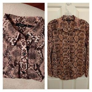 Apt. 9 snakeskin button-down shirt size S